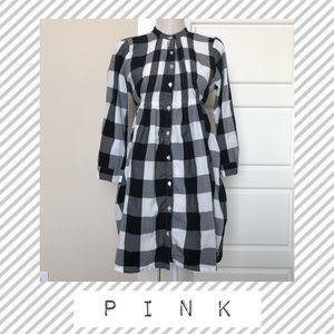 Victoria's Secret Pink Shirt Dress Button Down